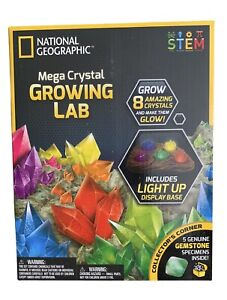 NATIONAL GEOGRAPHIC Mega Crystal Growing Lab - 8 Vibrant Colored Crystals