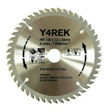 Y4rek 136mm 20mm X 48t Saw Blade For Makita Panasonic Hitachi Dewalt Bosch Hilti
