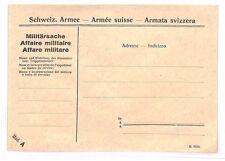 BF260 SWITZERLAND Military Envelope Unused