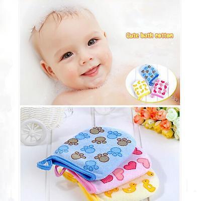 1Pc New Baby Kids Infant Soft Bath Cotton Gloves Mitt Wash Cotton Cloth Towel Y2