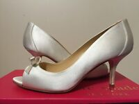 Kate Spade York Sussana Ivory Satin Women's Dressy Evening Heels Pumps 7 M