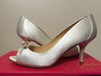 Kate Spade York Sussana Ivory Satin Women's Dressy Evening Heels Pumps 7 M