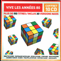 VIVE LES ANNEES 80 - 10 CD - 30 VERSIONS MAXI 80'S - NEW SEALED NEUF SOUS CELLO