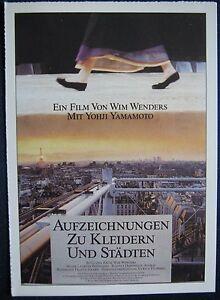 Filmplakatkarte cinema Aufzeichnungen zu Kleidern und Städten Wim Wenders - <span itemprop=availableAtOrFrom>Herten, Deutschland</span> - Vollständige Widerrufsbelehrung Widerrufsbelehrung Widerrufsrecht Sie haben das Recht, binnen eines Monats ohne Angabe von Gründen diesen Vertrag zu widerrufen. Die Widerrufsfrist beträgt  - Herten, Deutschland