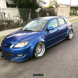 Mazda Speed 3 >> Details About Mazda 3 Fender Flares Concave Mazdaspeed3 Mps Wide Body Wheel Arches 70mm 4pcs
