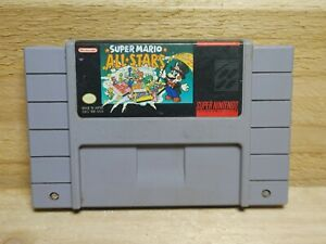 Super Mario All-Stars Super Nintendo Cartridge Only Tested Authentic Mario 1 2 3