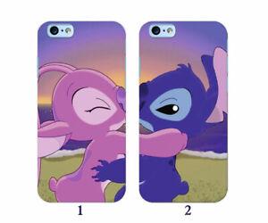 Dettagli su COPPIA Custodie COVER Stitch kiss LOVE Disney iPhone Cover Gomma TPU Morbida