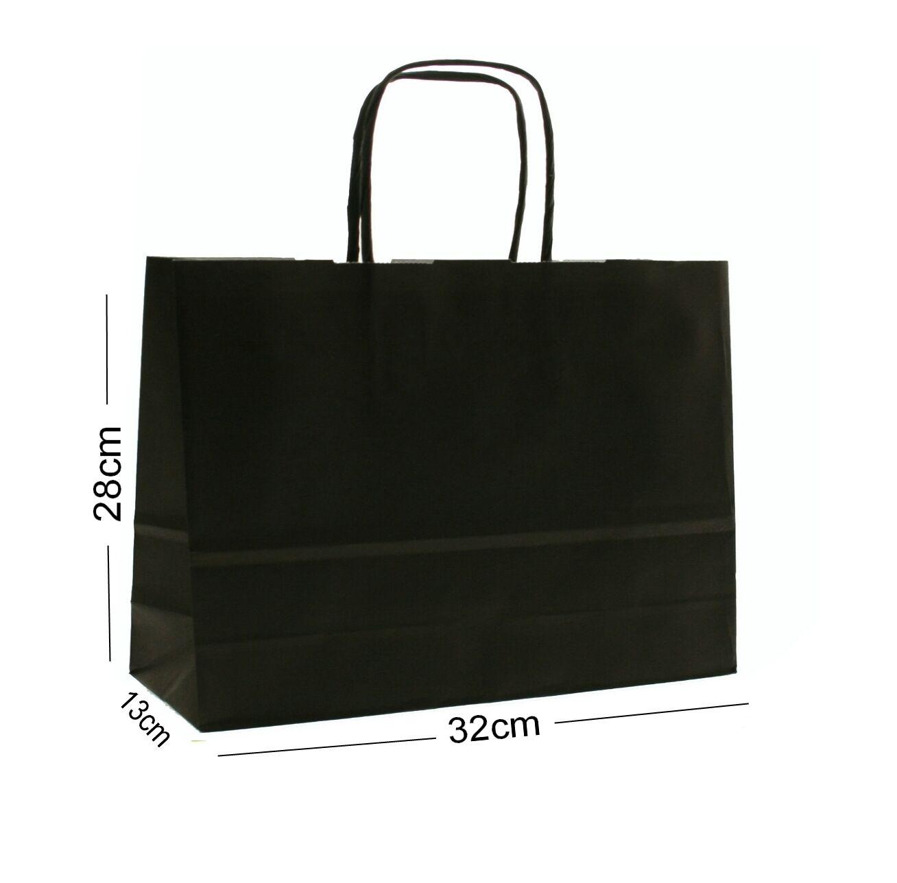 Noir Paysage Grand Papier Fête Sac Cadeau ~ Boutique Magasin Sac Sac Magasin e00e72