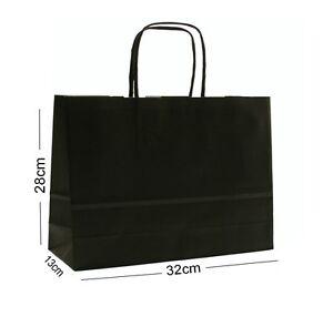 Noir-Paysage-Grand-Papier-Fete-Sac-Cadeau-Boutique-Magasin-Sac