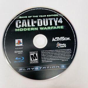 Call of Duty 4: Modern Warfare (Sony Playstation 3) - GOTY COD4 PS3 Disc only