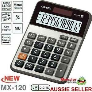 CASIO-DESK-CALCULATOR-12-DIGIT-MX120B-MX-120B-EXTRA-LARGE-DISPLAY-AUSSIE-SELLER