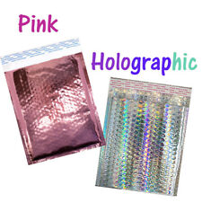 85x12 Holographic Pink Teal Metallic Bubble Mailers Color Padded Envelopes