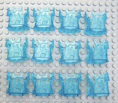 Lego 12 Pieces Rock Panel 2x4x3 w// Fractures Trans-light Blue Chima Ice Cage