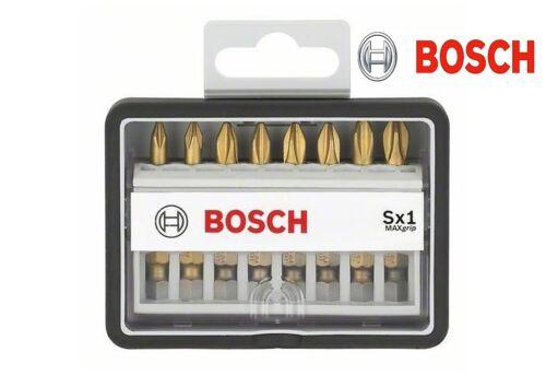 Bosch 8tlg Robust Line Bit Set PZ und PH Schrauberbit Max Grip Länge 49mm