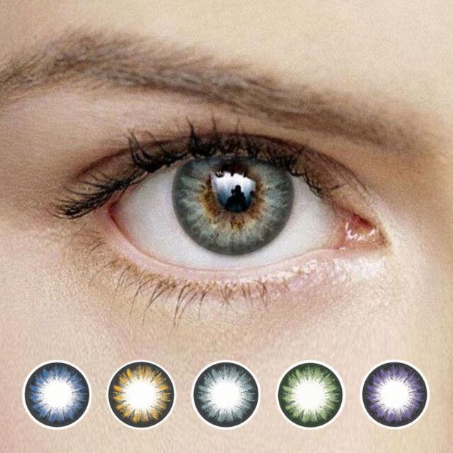 OPPA MX21 2Tone Color Contact Lenses Power 1 Pair New Lentilles 1 Paire