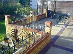 Wrought Iron Metal Fencing Railing Panels 4ft Long X 2ft Tall Made 2 Order Size Ebay