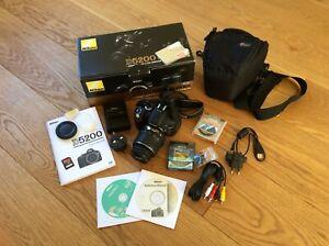 Nikon D5200 Af S Dx Nikkor 18 55mm F 3 5 5 6g Vr Kit 32gb Sandisk 2 Uv Filters Ebay