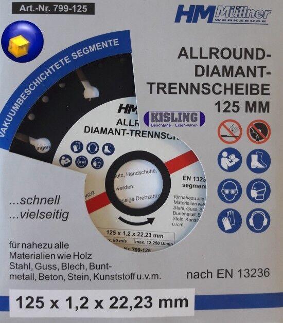 Diamant Trennscheibe ø 125 ø 230 Allround für fast alle Materialien