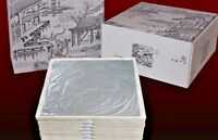 Lot (10)11 X 11cm Pure Real Genuine Silver Leaf Foil 99.99% Silver Free Shipping