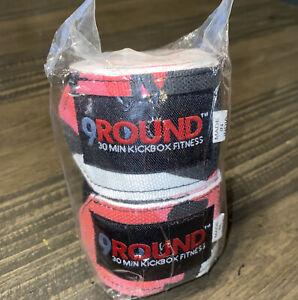 9 Round 30 Min KICKBOX FITNESS Hand Wrap Tape Pink/Black ...