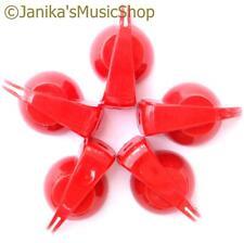 5 Red chicken head knobs smooth/splined/D shaft potentiometer knob pot switch