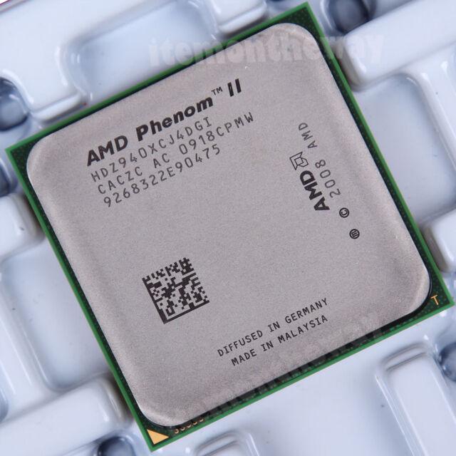 Original AMD Phenom II X4 940 HDZ940XCJ4DGI Prozessor 3 GHz AM2+ Sockel