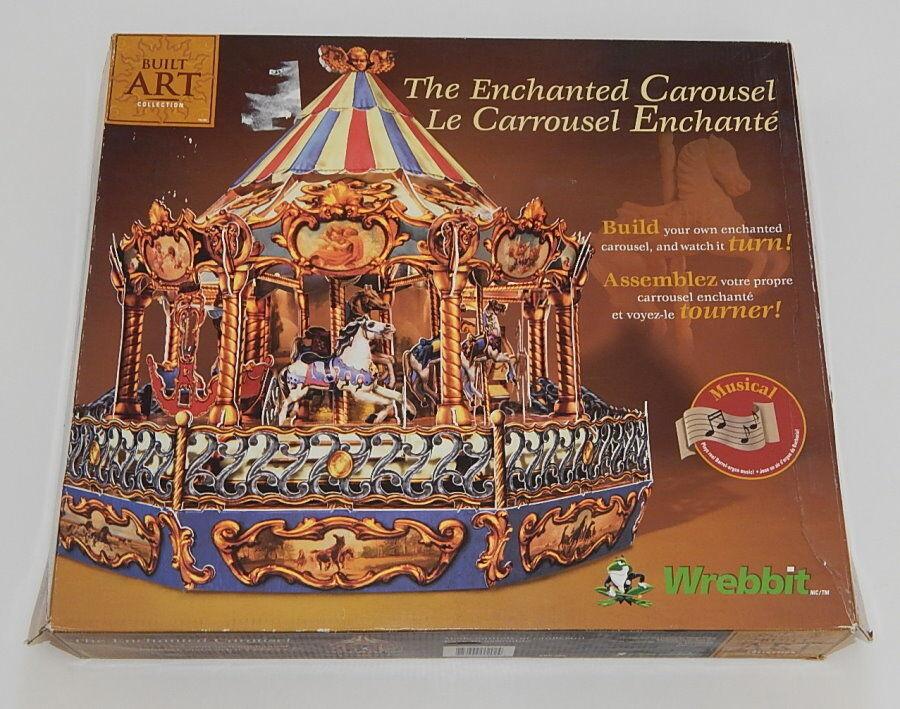 THE ENCHANTED CAROUSEL - Wrebbit Puzz3D Built Art Collection NIOB