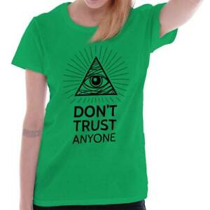 Dont Trust Anyone Eye of Providence Illuminati Conspiracy Mens V-neck T-shirt