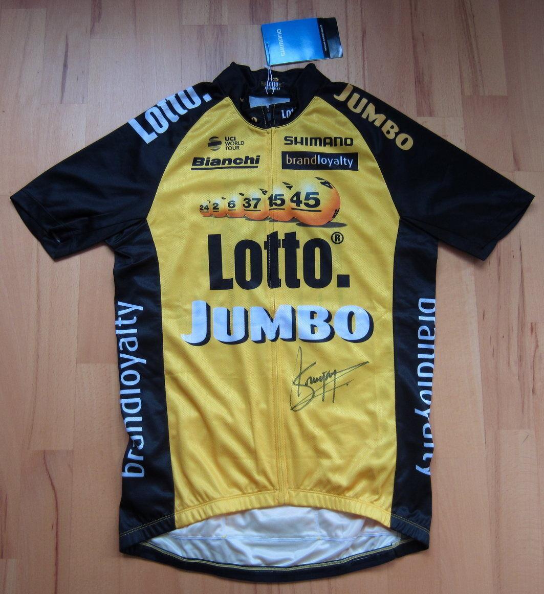 Steven Kruijswijk-firmado 2017 lottonl-Jumbo Jersey