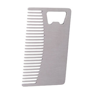 Portable-Men-039-s-Silver-Stainless-Steel-Beard-Comb-Mustache-Grooming-Shaping-Tools