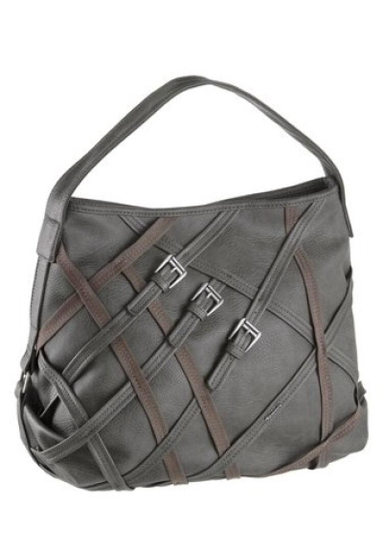 14f20ee451291 Tamaris Damen Handtasche Tasche Shopper Sara Sara Sara Hobo Bag grau-braun  NEU b6816a