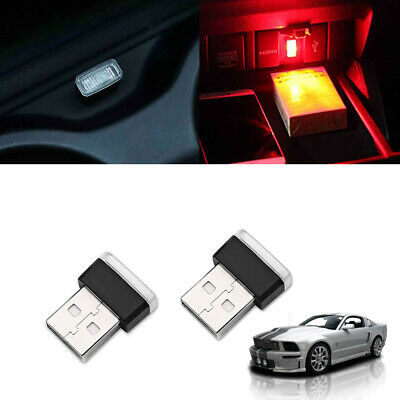 GTINTHEBOX 2PCS Brilliant Red USB Plug-In Miniature LED Car Interior Ambient Lighting Kits