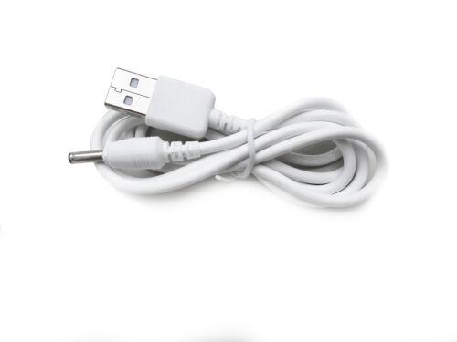 90cm USB Cable cargador blanco para Motorola MBP160-2 unidad del bebé Baby Monitor