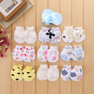 Baby Gloves Anti Scratch Face Hand Guards Protection Soft Newborn Mittens Sleeve