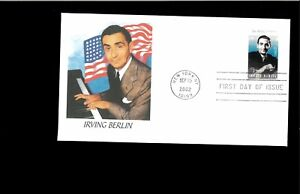 2002-First-day-Cover-Irving-Berlin-New-York-NY