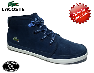 LACOSTE zapatos ALTE mujer zapatillas CAMOSCIO azul zapatos CASUAL - ZIANE CHUKKA