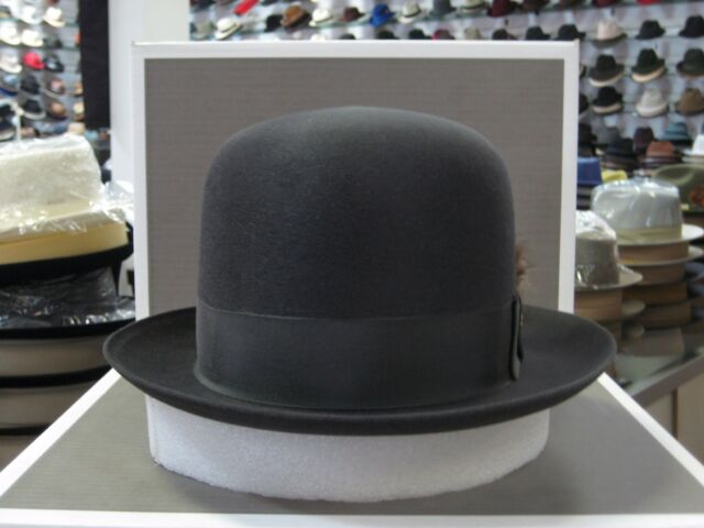 STETSON HIBOY NAVY ROYALE DELUXE FUR FELT SILK FINISH DRESS HAT