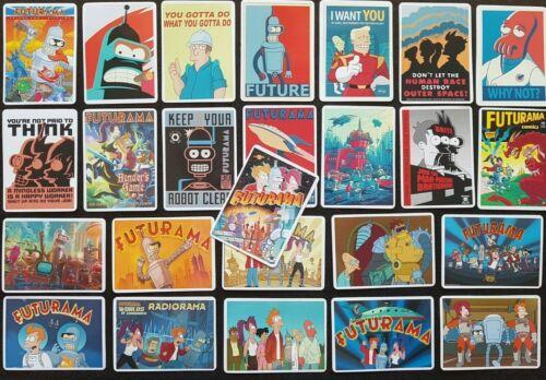 Futurama Stickers 25 PCE Skate Laptop PC Car Decal Fry Zoidberg Bender TV Show