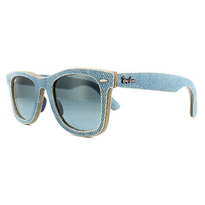 4e4cf2c46 Ray-Ban Sunglasses Wayfarer 2140 11644M Denim Light Blue Blue Grey ...