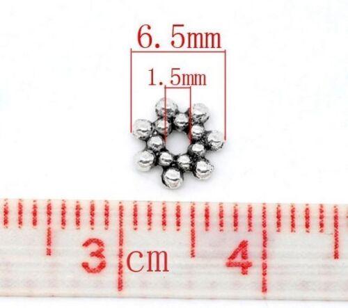 25 Intercalaires spacer Fleur 6.5x6.5x1.5mm Perles apprêts création bijoux A246