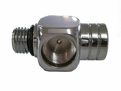 "Adapter 7/16"" male HP to  3- 7/16""F  Scuba Diving Computer Hose  1st Stage A219"