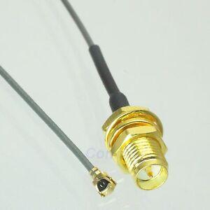 RP-SMA-female-plug-center-nut-bulkhead-to-IPX-U-fl-1-13-pigtail-cable-20cm