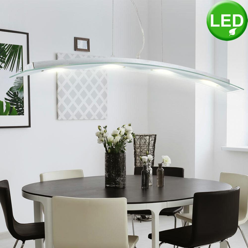 LED 20 W Glas Pendel Leuchte Hänge Lampe LxBxH 860x90x1200 mm Beleuchtung Licht