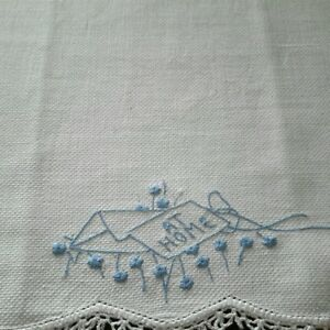 Sweet-Vintage-Embroidered-Guest-Towel-Blue-Stitching-At-Home