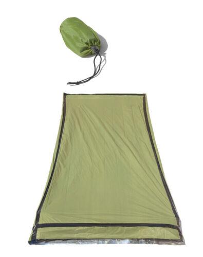 "Heavy Duty Emergency Sleeping Bag Outdoor Survival Camping 84/"" x 36/"" GREEN"