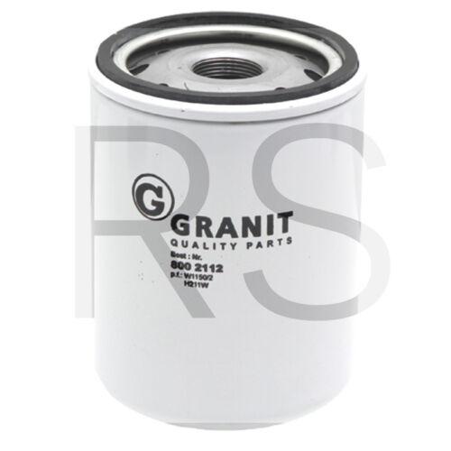 Hydraulik Getriebeölfilter passend für W 1150//2 /& HF0756900 Granit Parts 8002112