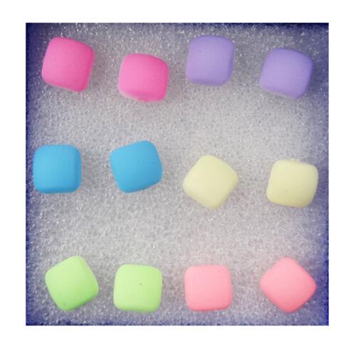 Set Chic Girls Bowknot Lips Candy Rubber Matte Women Stud Earrings 6 Pairs