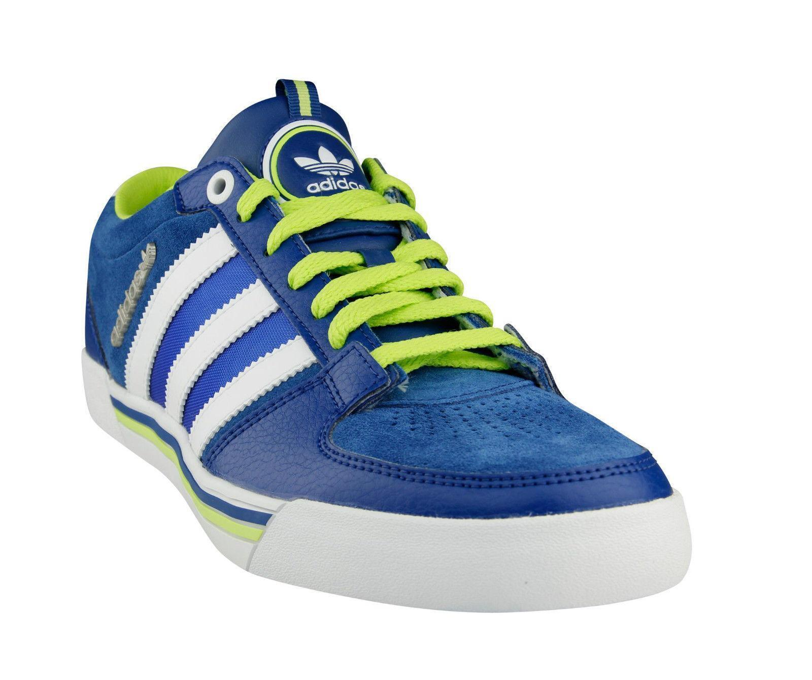 Mens ADIDAS Leather PEEX LOW Lone Blue Leather ADIDAS Casual Trainers M22290 b4cc7c