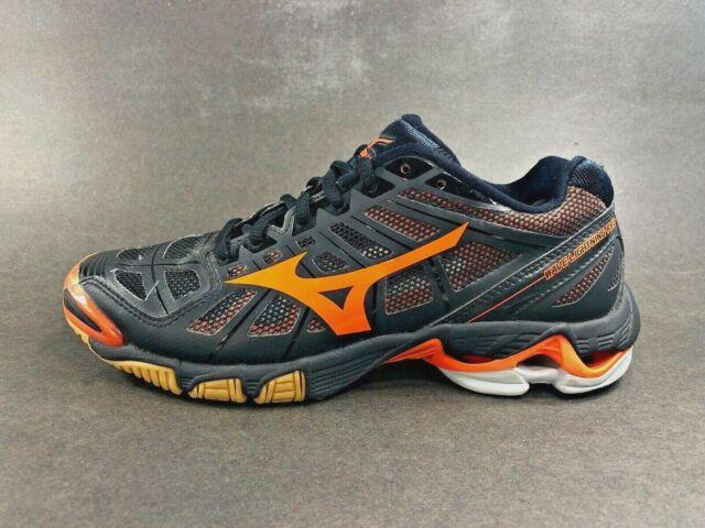 Mizuno™ ~ WAVE LIGHTNING RX2 Volleyball Shoes ~ Black Orange ~ Women Sz 8