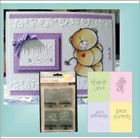 Best Friend Embossing Folder Set - Cuttlebug Embossing Folders Thank You Words